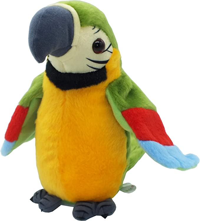 Percy The Talking Parrot SOFT TOY He can listen and copy you 3 KIDS GIFT *NEW*