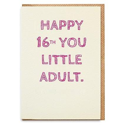 Tarjeta de cumpleaños 16 para niña, divertida tarjeta de 16 ...