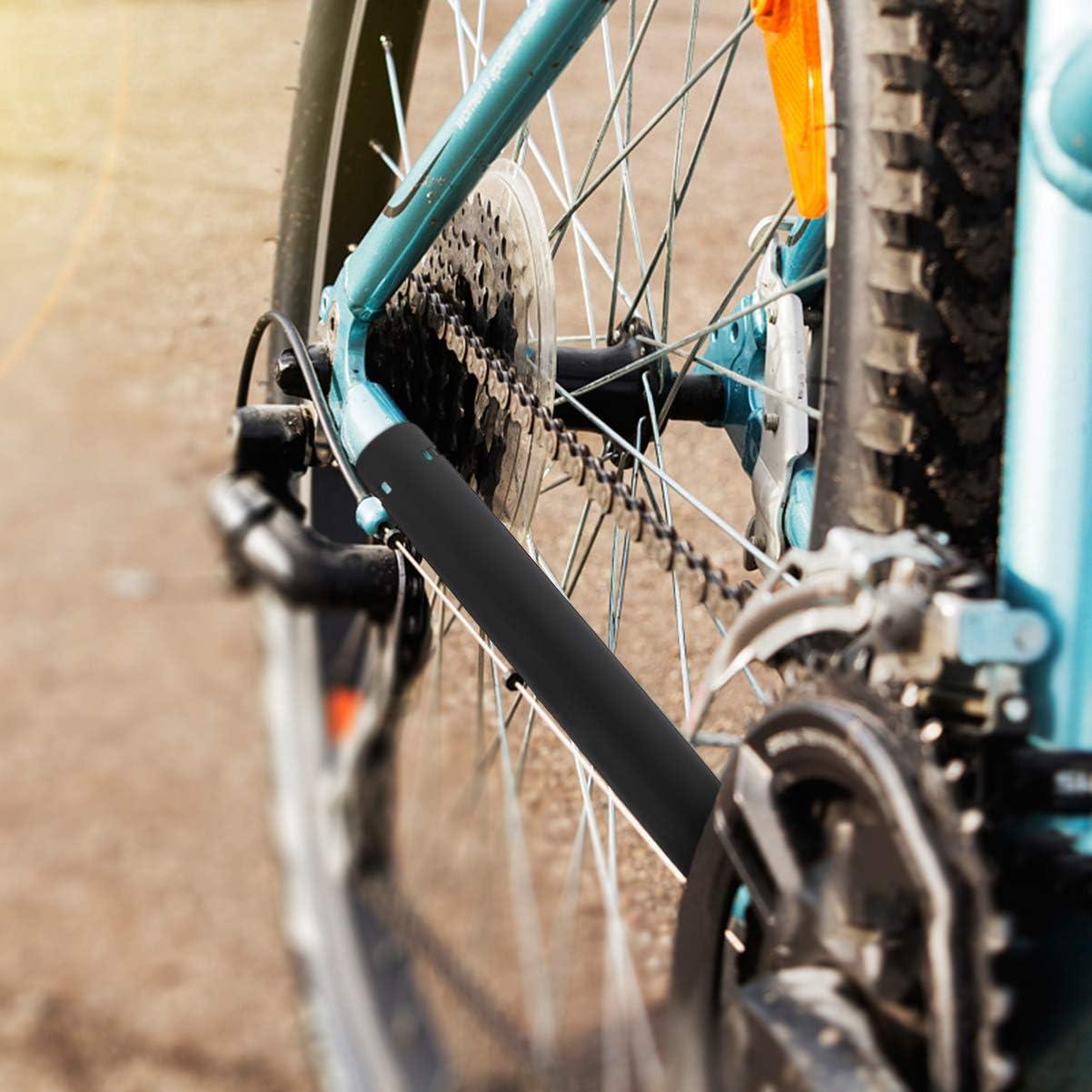 Black BESPORTBLE 4 Sets of Bike Chainstay Protector Plastic Bicycle Chain Frame Guard Bike Frame Cover for Mountain Bike Road Bike