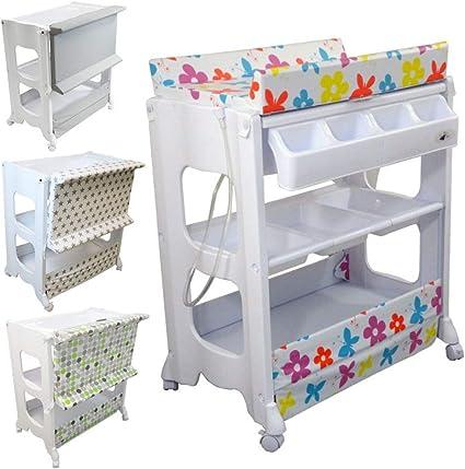 monsieur bebe table a langer avec baignoire et rangements 4 coloris norme nf en 12221