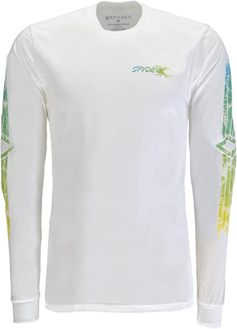 Spyder RAD Pad - Camiseta de Manga Larga de algodón orgánico para Hombre, Hombre, 610000, Organize Salt/Organic Salt, Medium: Amazon.es: Deportes y aire libre