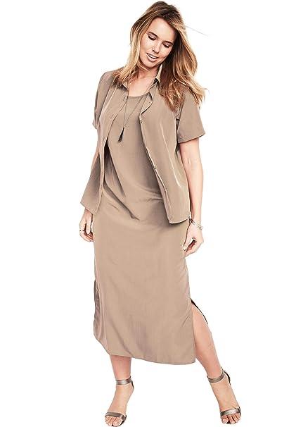 Roamans Women\'s Plus Size Jacket Dress Set