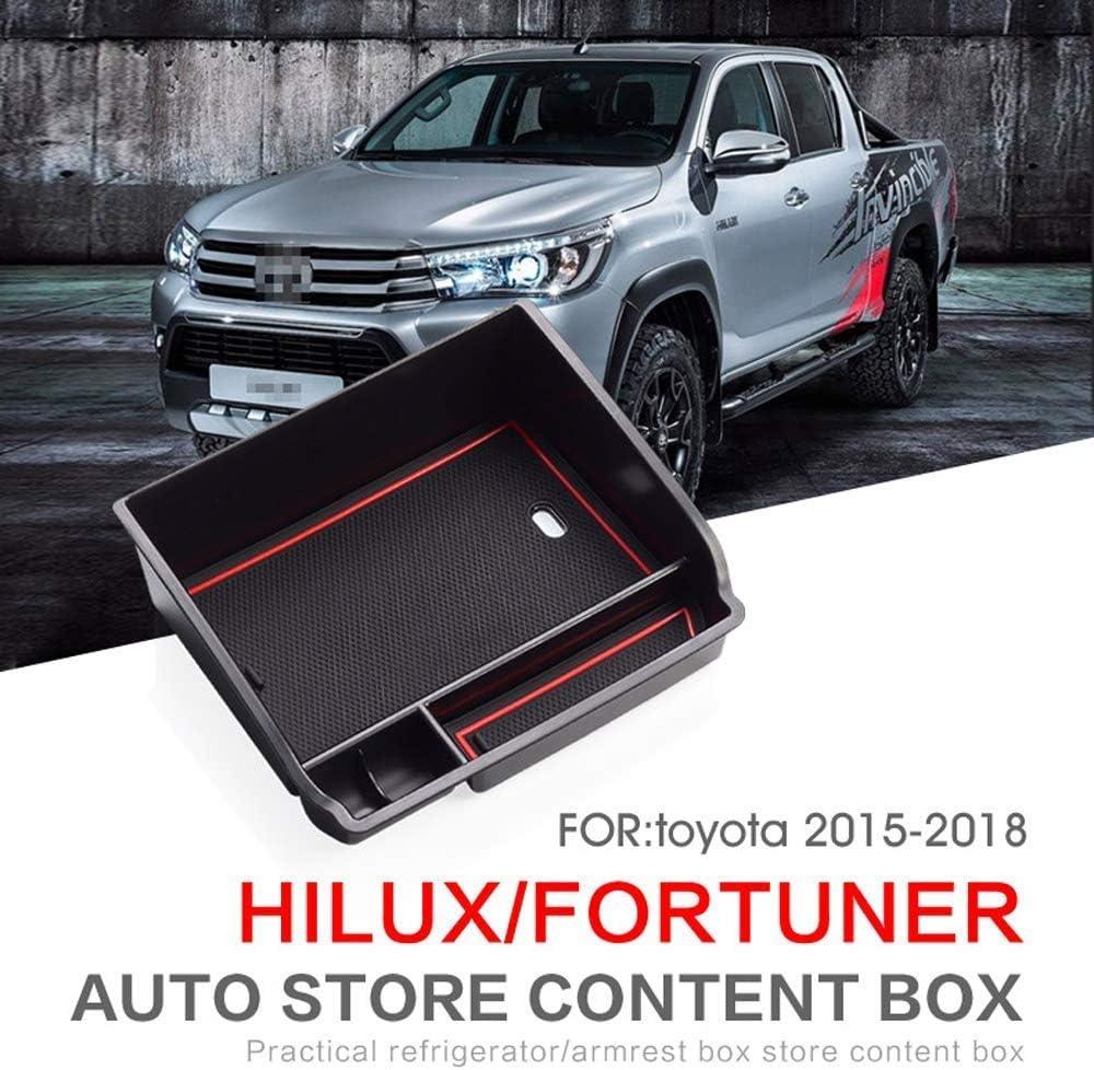 YIWANG Auto Mittelkonsole Armlehne Aufbewahrungsbox Organizer Ablage f/ür Hilux Revo SR5 Fortuner 2015-2019 f/ür Innova 2015 Center Sekund/äraufbewahrung