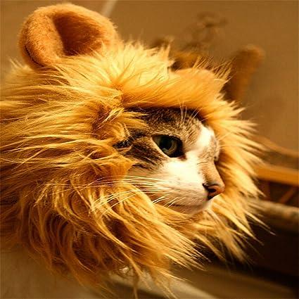 unke León disfraz de gato perro Pet Costume Lion Mane peluca de gato perro Navidad ropa
