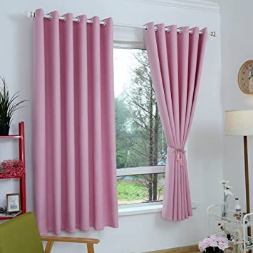 Amazoncom Xiaojingly Blackout Curtains Drape Simple Modern Solid
