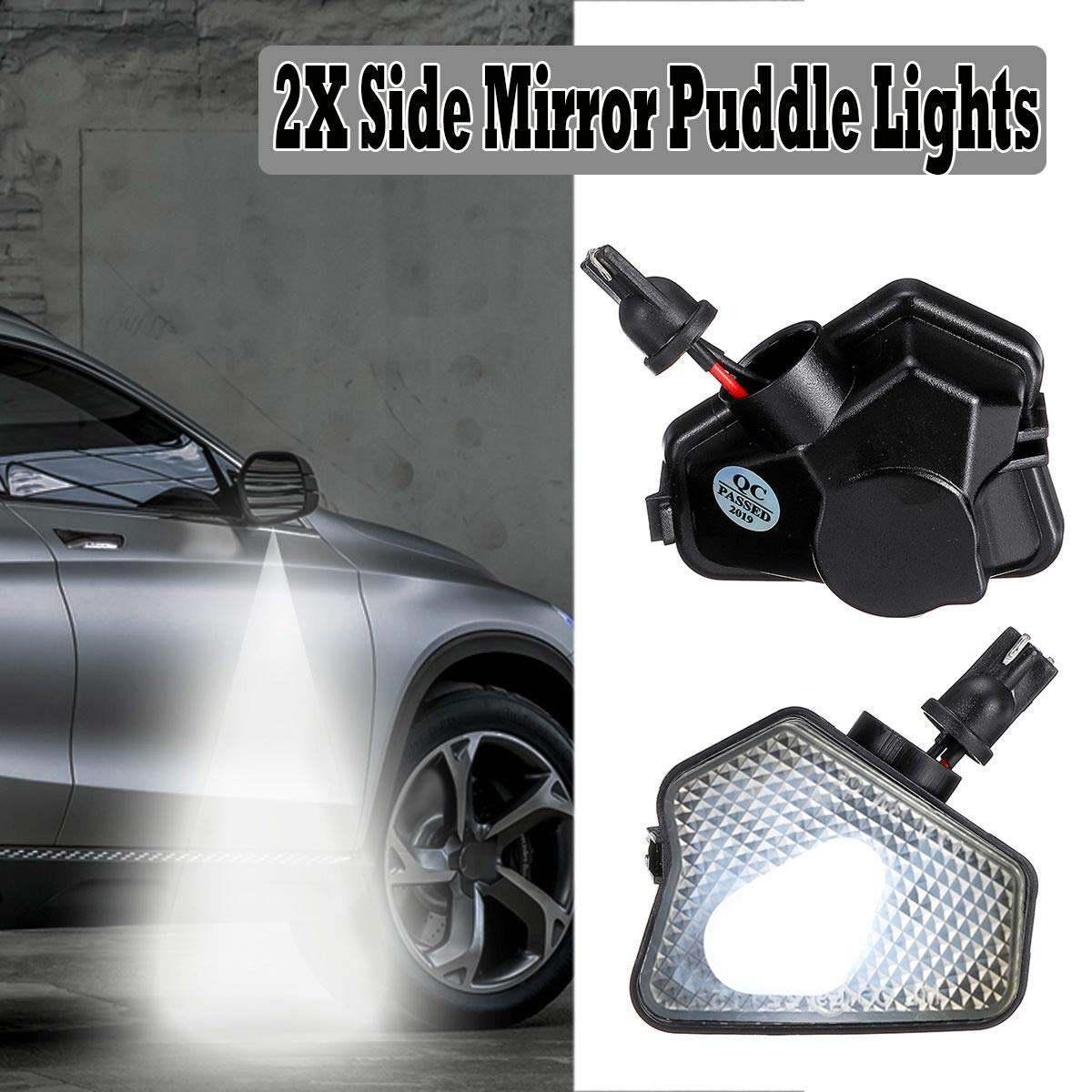 CUHAWUDBA 2Pcs Car Rearview Mirror Turn Signal 9LED Indicator Puddle Lights for Mercedes CLA CLS GLK GLA W176 W242 C219 X156 X204 X253