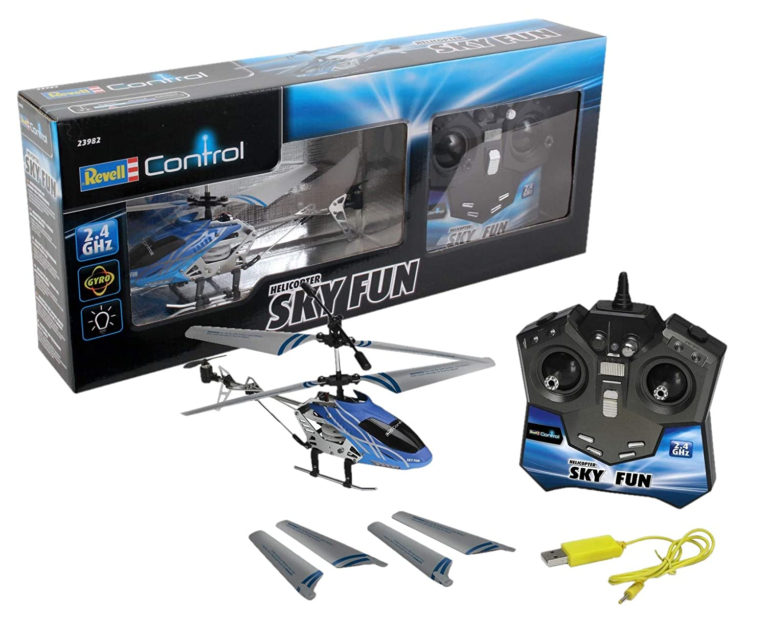 3d5ab4cc219 Revell Control Sky Fun RC Helicopter  Amazon.co.uk  Toys   Games