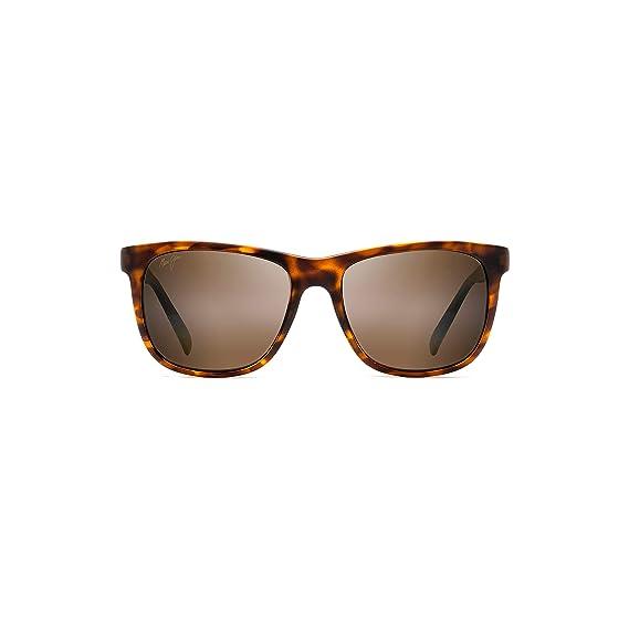 bdc186ff76261 Maui Jim H740-10CM Matte Tortoise Matte Tortoise Tail Slide Square  Sunglasses P  Amazon.co.uk  Clothing