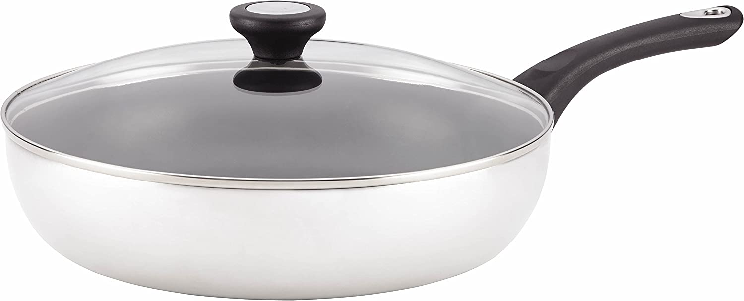 Farberware New Traditions Stainless Steel Skillet Set, 12-Inch, Silver