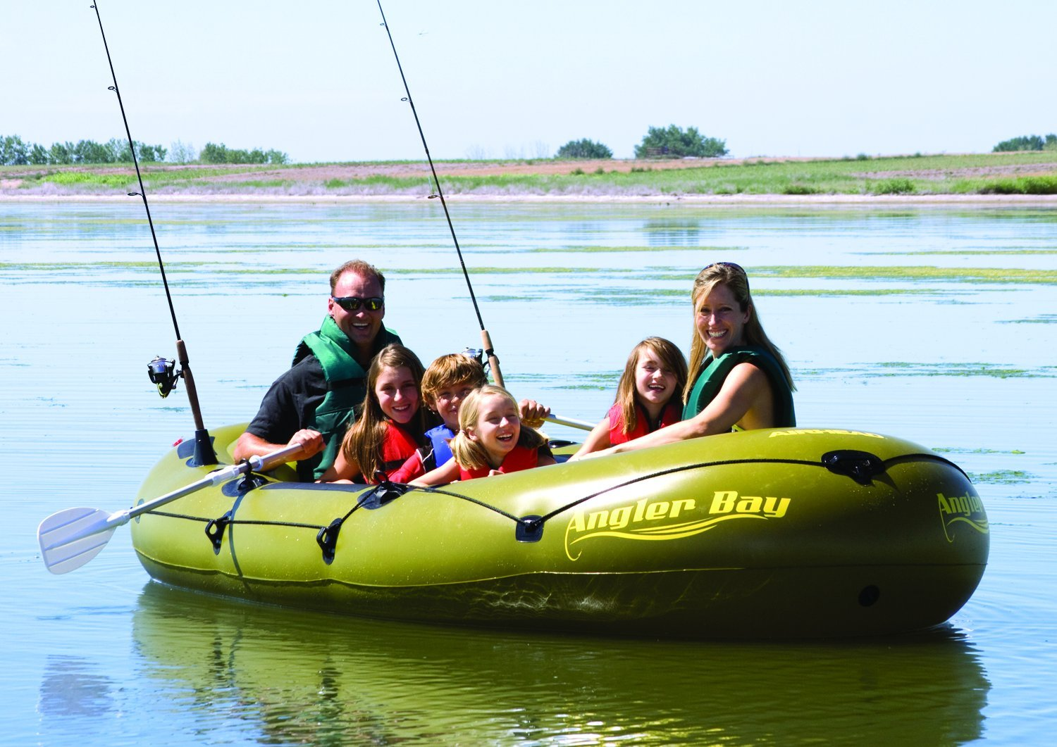 AIRHEAD ANGLER BAY Inflatable Boat, 6 person by Airhead