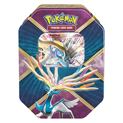 Pokemon TCG: Xerneas EX Pokemon Tin - Legends of Kalos Tin Contains 4 Pokemon Booster Packs and Ultra Rare Xerneas EX: Toys & Games