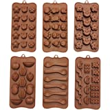 Set di 6 Vassoi in Silicone con Formine per Cioccolatini e Caramelle a Marchio CurtzyTM