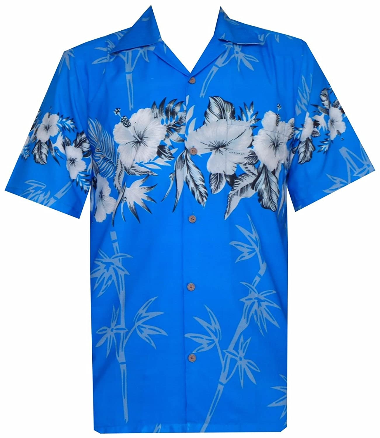 1ad23e6c Alvish Hawaiian Shirts Mens Bamboo Tree Print Beach Aloha Party Holiday:  Amazon.ca: Clothing & Accessories