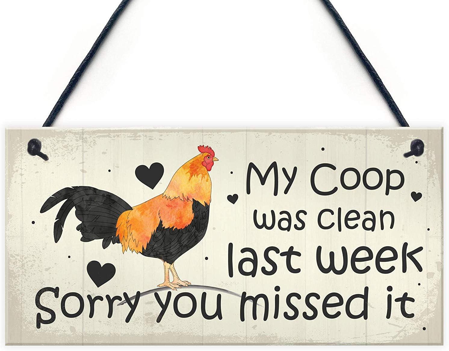 Meijiafei Chicken Sign Hanging Sign Pet Sign Chicken Coop Sign Chicken Accessories Garden Plaque Friend Gift 10