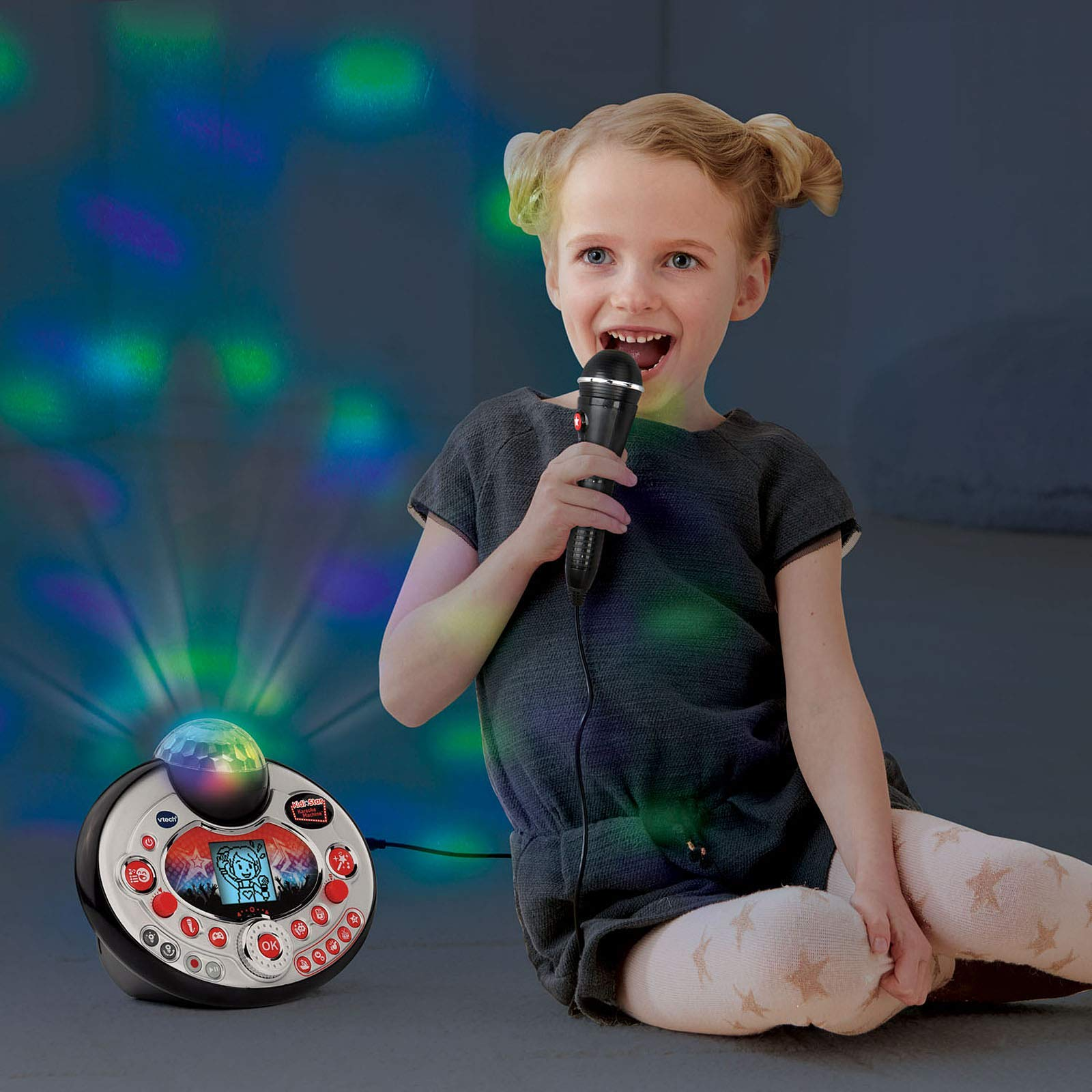 VTech Kidi Star Karaoke Machine (Black) (Renewed) by VTech (Image #6)