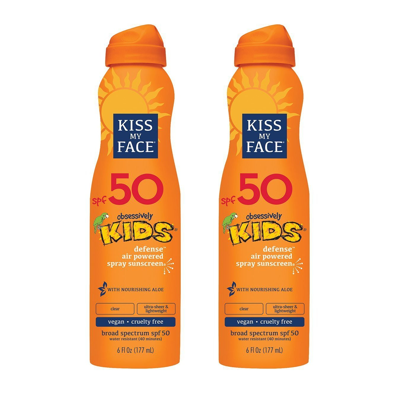 Kiss My Face Kids Defense Continuous Spray Sunscreen Spf 50 Sunblock, 6 Ounce, 2 Count Best Kids' Sunblock