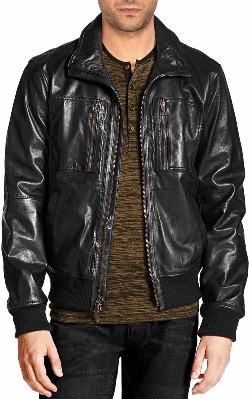 brandMe Mens Genuine Leather Pure Lambskin Biker Jacket MM461