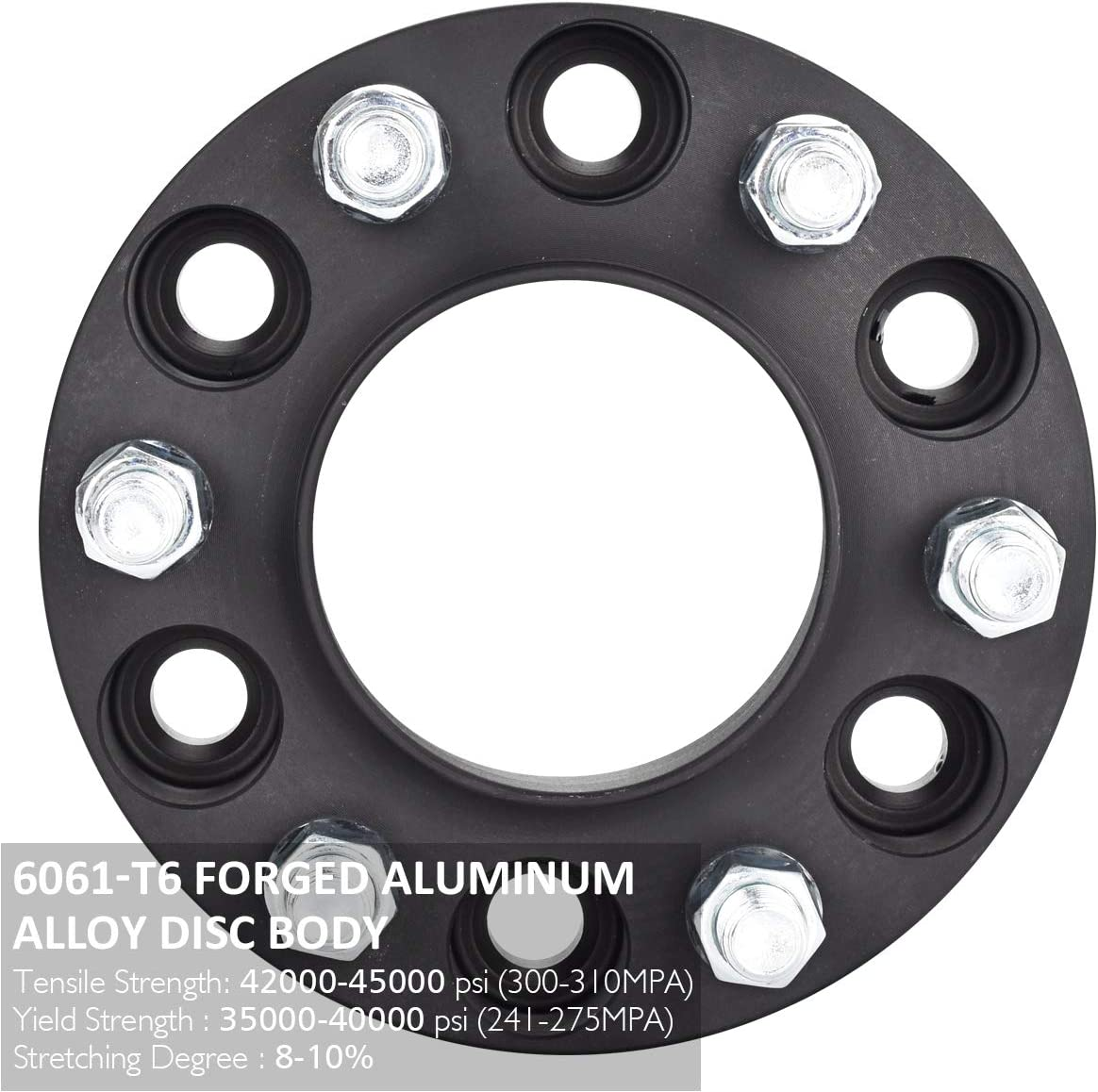 4PCS 87mm Hub Centric Wheel Spacers with 14X2 Studs PUENGSI Wheel Spacer Fits for Ford F-150 Raptor Expedition 6x135 to 6x135mm Black 1.5 38mm