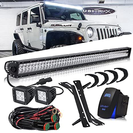 dot approved 50 inch 288w led light bar + 3x3 inch 16w pods cube driving fog