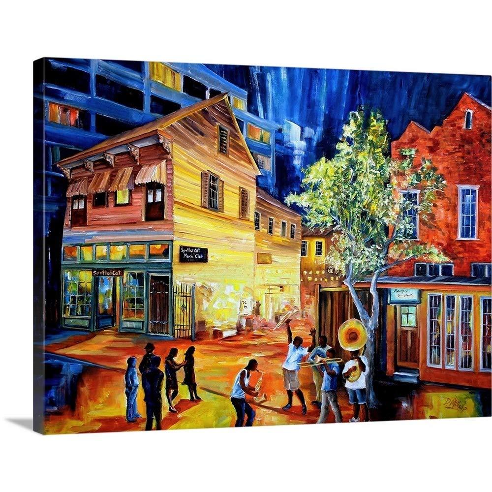 "Frenchmen Street New Orleans Canvas Wall Art Print, 24""x18""x1.25"""