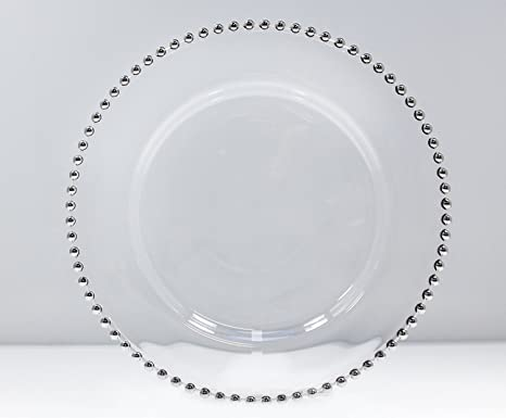 Amazon.com | Silver Beaded Glass Charger Plate 13"|466|385|?|a254f499be1438271ff45e02f5e31c2f|False|UNLIKELY|0.3552698791027069