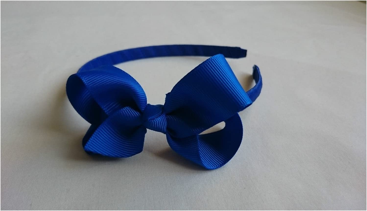 BLACK 1 cm WIDE RIBBON ALICE HEAD HAIR BAND WITH COLOURED RIBBON BOWS