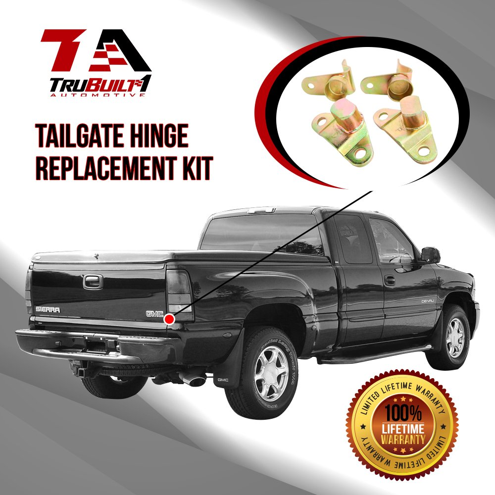 Fits 99-06 Chevy Silverado GMC Sierra Complete Tailgate Hinge Replacement Kit T1A-15074252-1507425 15078745-15078746