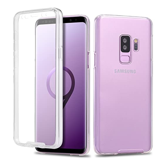 new styles 5e3e5 0ce72 Casetego Compatible Galaxy S9 Plus Case,360 Full Body Two Piece Slim  Crystal Transparent Case with Built-in Screen Protector for Samsung Galaxy  S9 ...