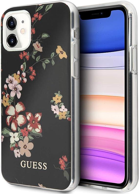 Guess N 4 Flower Collection Hülle Guhcn61imlfl04 Für Iphone 11 Schwarz Elektronik