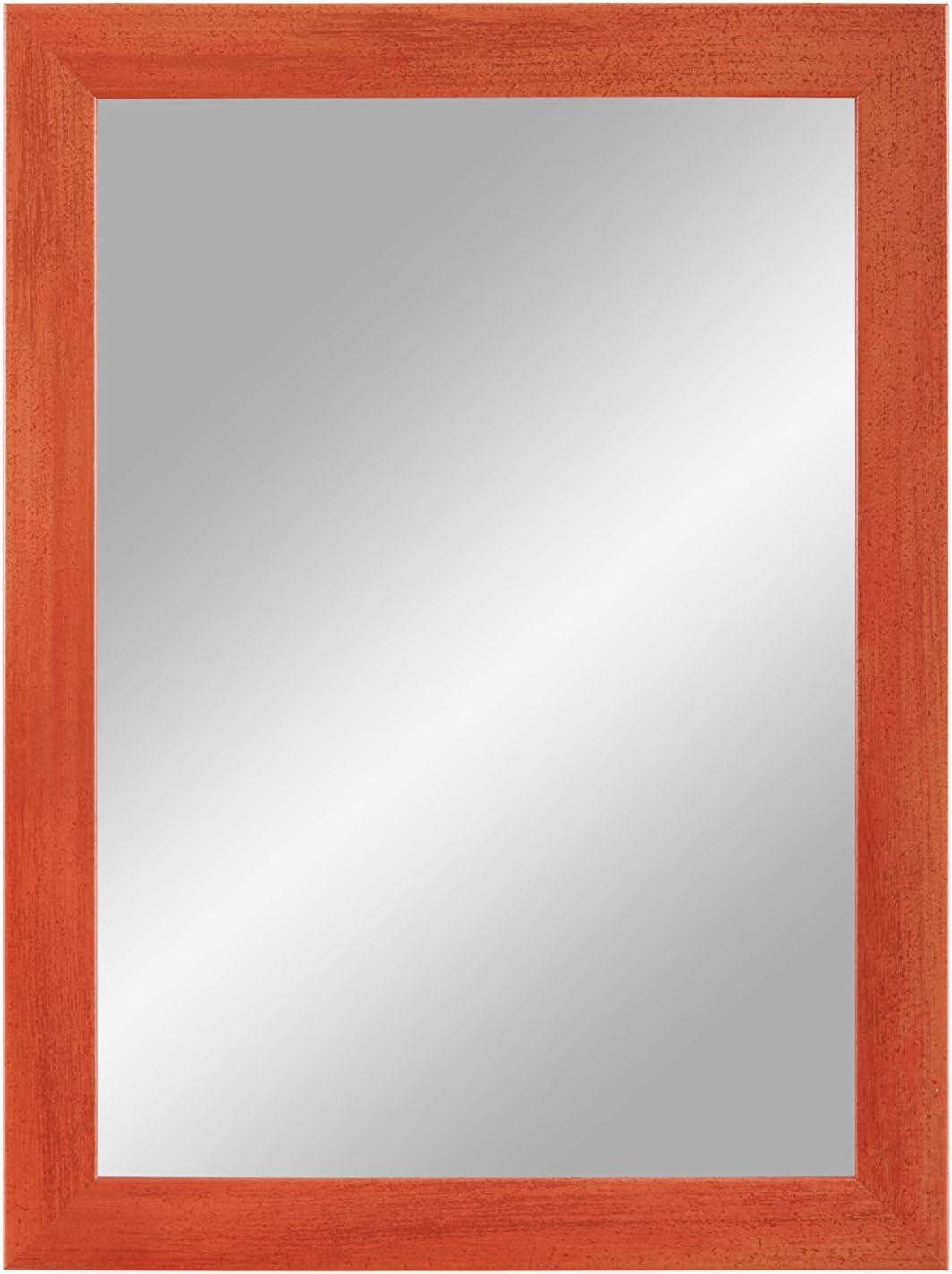Specchio da Parete 30x30 cm con Cornice Duisburger-Rahmen24 Flex 35 Specchio su Misura con Striscia di Legno MDF da 35 mm di Larghezza e Parete Posteriore Robusta con Ganci Terracotta