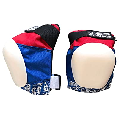 new 187 Killer Pads Pro Knee Pads - Red / White / Blue - X