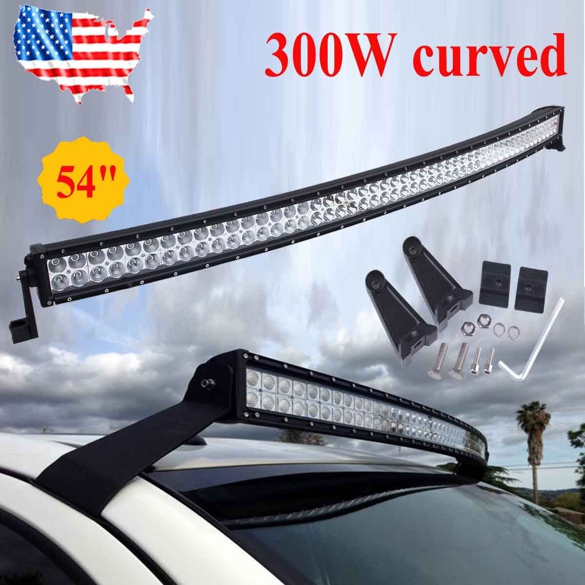 52inch 300w Led Curved Work Light Bar Flood Spot Combo Driving Offroad 4wd 312w by Napol Performance