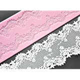 FOUR-C Cake Lace Mat Silicone Mold Cake Decorating Supplies Color Pink