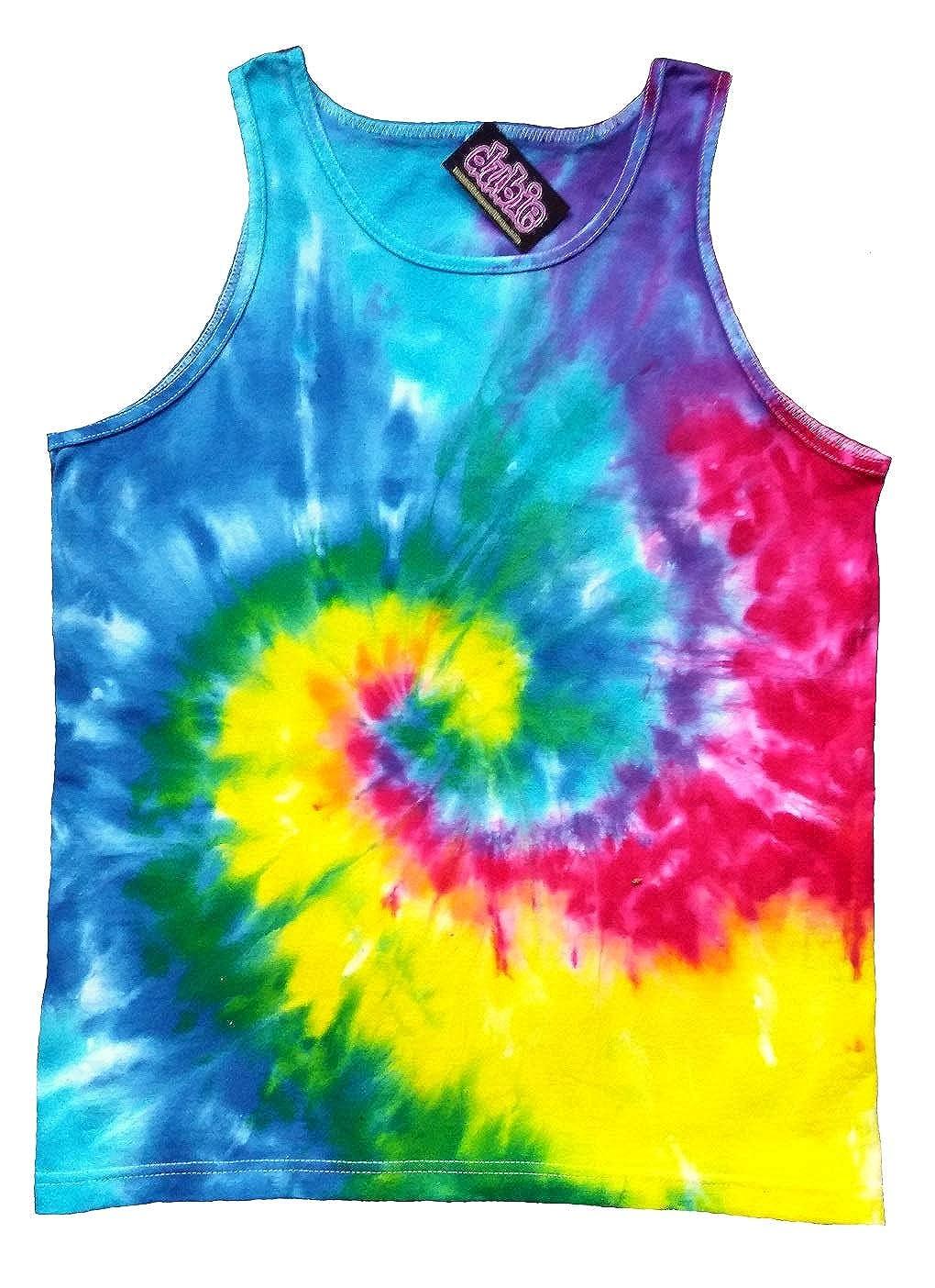 e3ba1e1f648547 Amazon.com  Rainbow Spiral Tie Dye Tank Top Shirt 10oz  Clothing