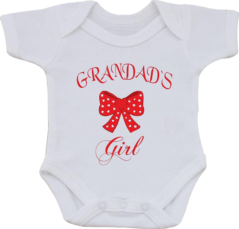 magic moments Grandads Girl Full Color Funny Sublimation White Baby Vest OR Bib