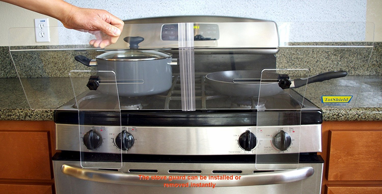 Delicieux Amazon.com : TotShield Stove Guard For Free Standing Gas And Electric Stove  : Stove Safety Covers : Baby