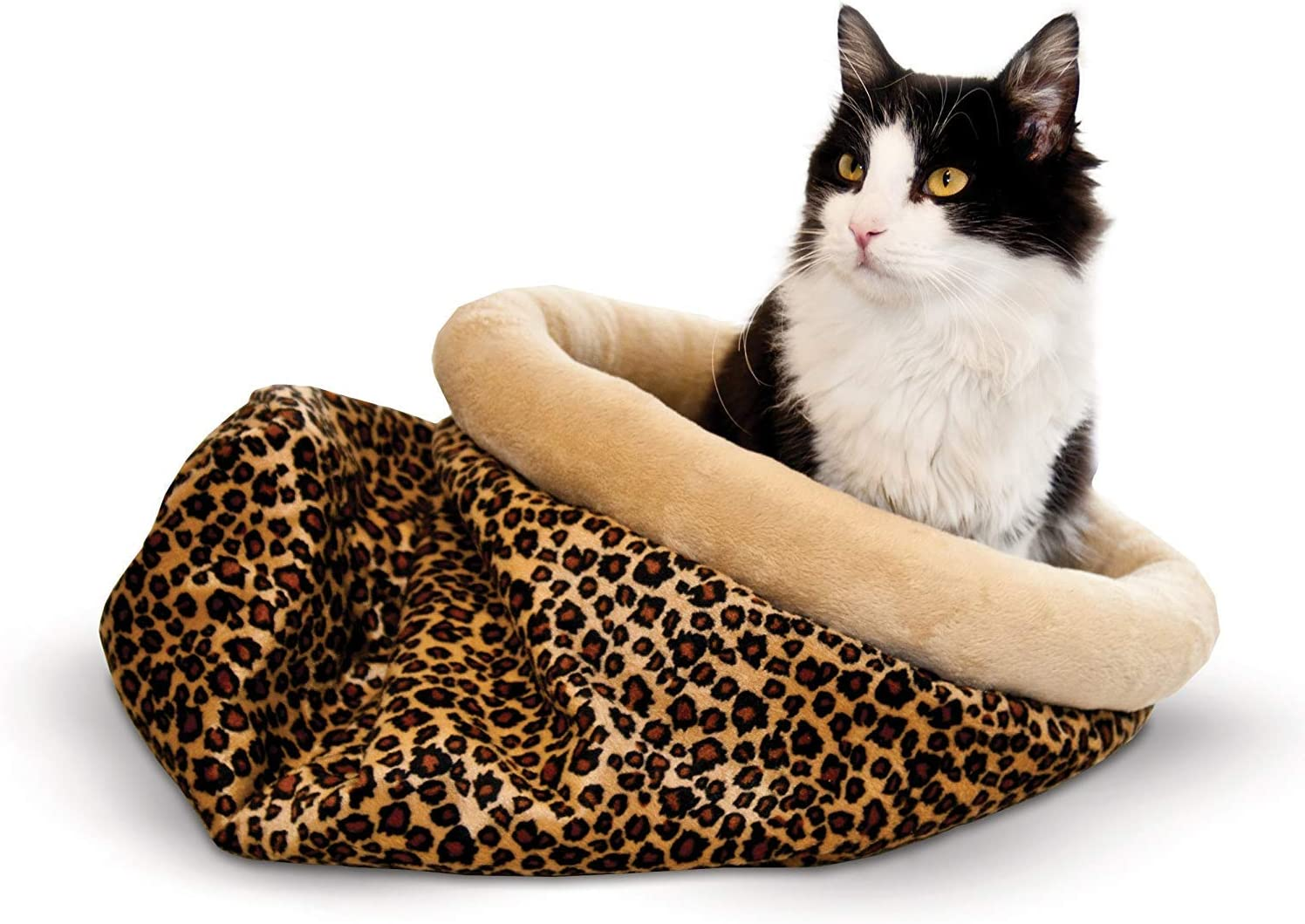 K&H PET PRODUCTS Self Warming Leopard Kitty Sack