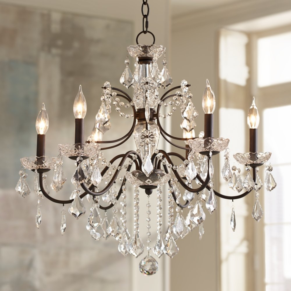 Beverly 26 wide bronze frame clear crystal chandelier amazon aloadofball Image collections