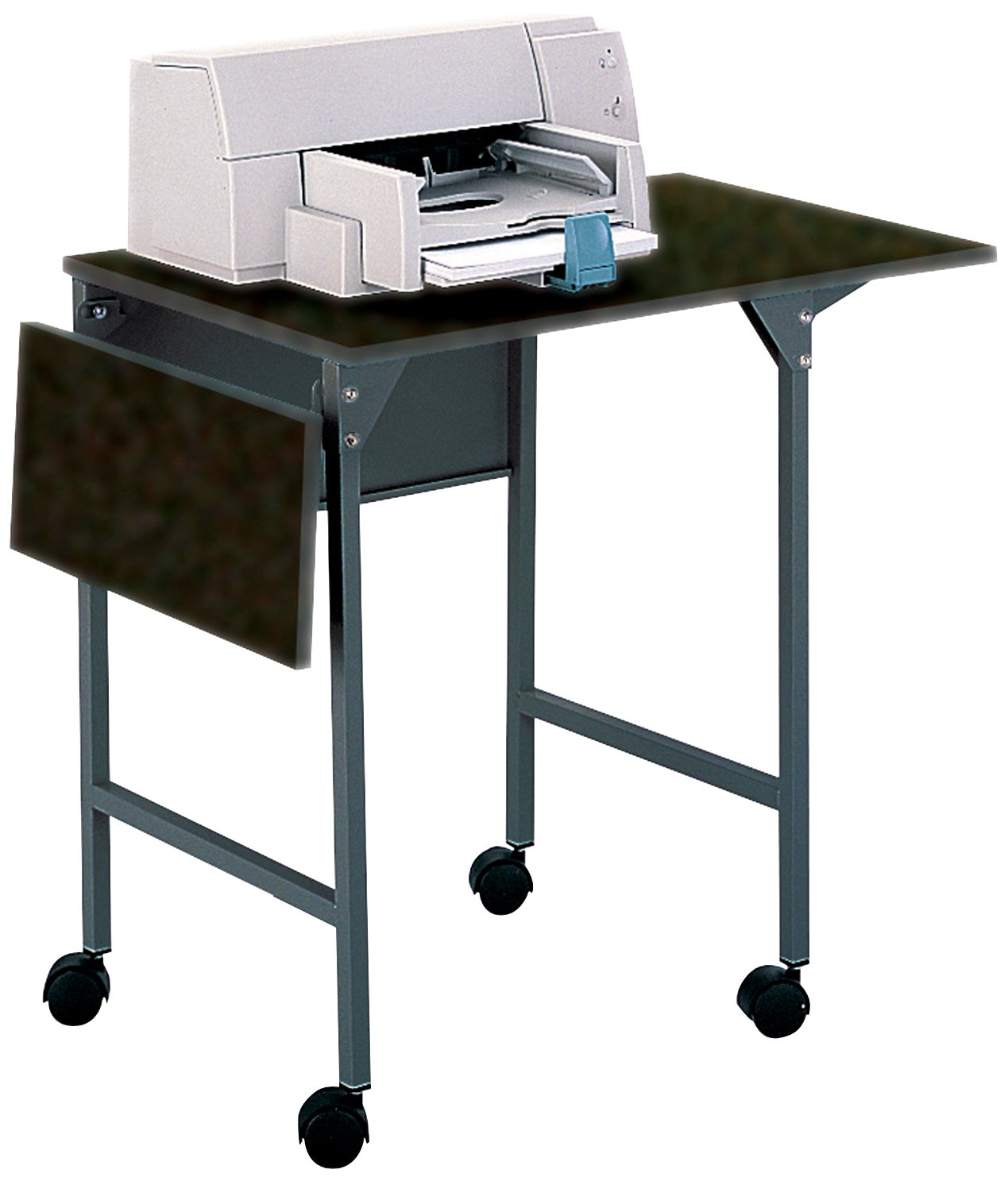 Amazon.com: Safco Products 1876BL Machine Stand/Desk With Drop Leaves, Black:  Kitchen U0026 Dining