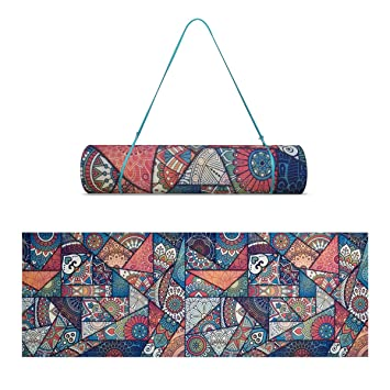 a207760e9d34 Trideer Premium Printed Yoga Mat (Multiple Colours) Non-Slip