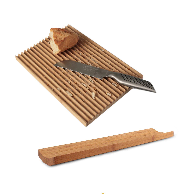Juego de Pan Compuesto por panera y Tabla de Cortar Bambú ...