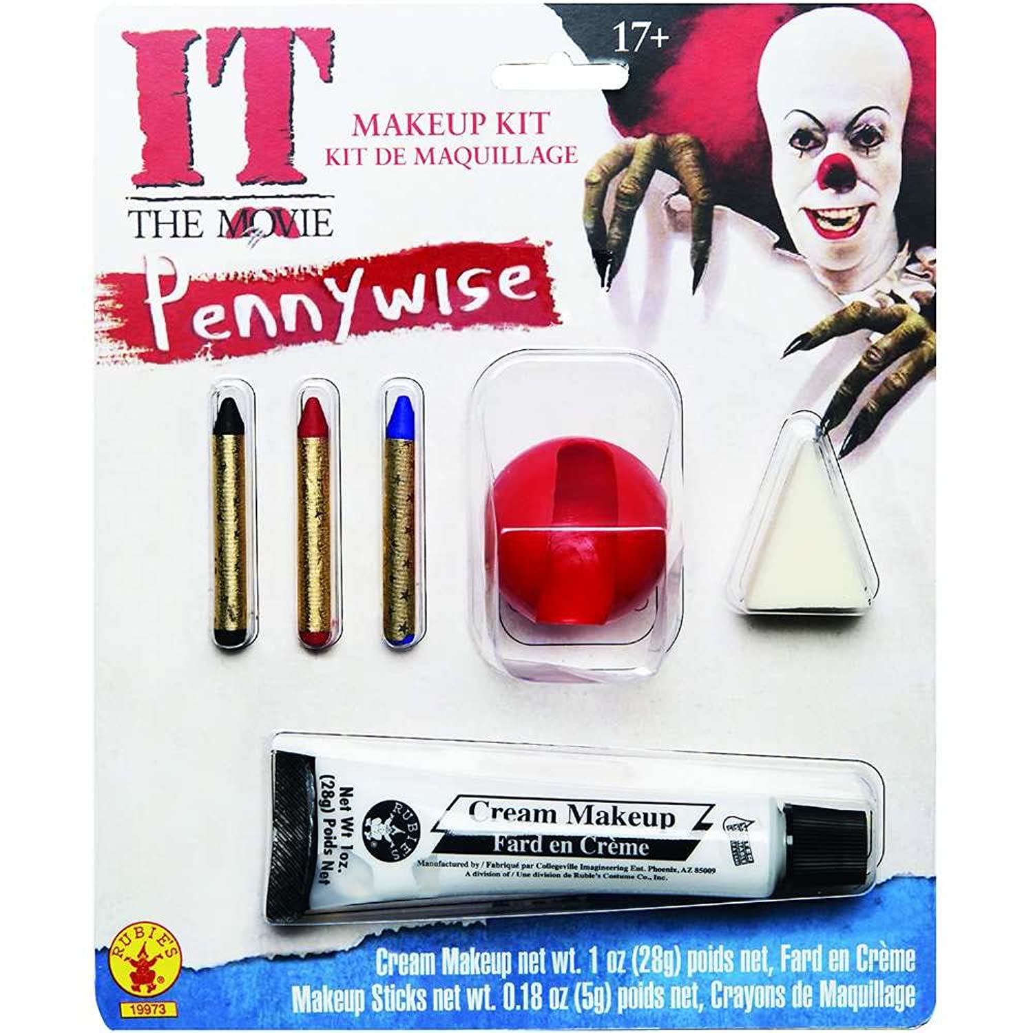Amazon.com: Rubie\'s Costume Men\'s It Pennywise Adult Make-Up Kit ...