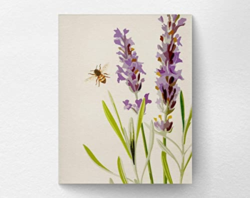 pop up design in a box Handmade Lavender and bee card