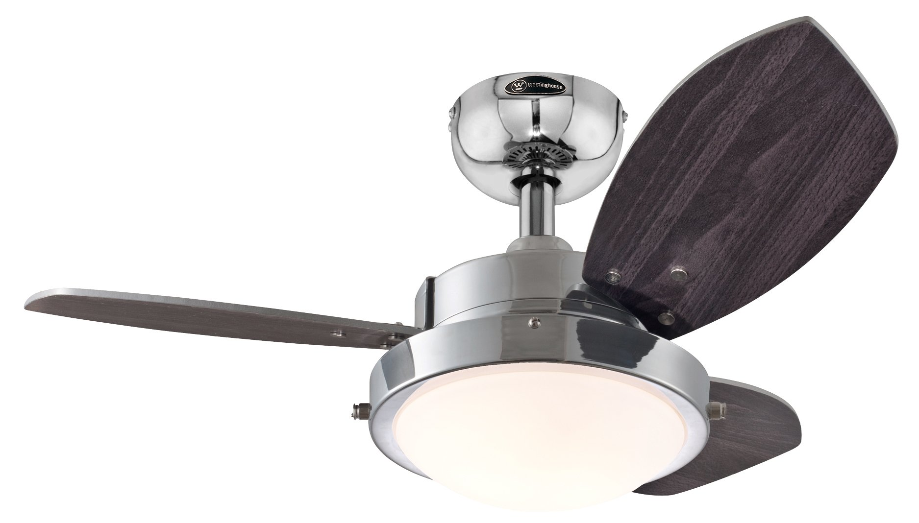 Westinghouse 7876300 Wengue Chrome 30'' Ceiling Fan with Light by Westinghouse (Image #1)