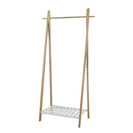 Amazon.com: PAMPOO - Perchero de bambú para abrigo, con ...
