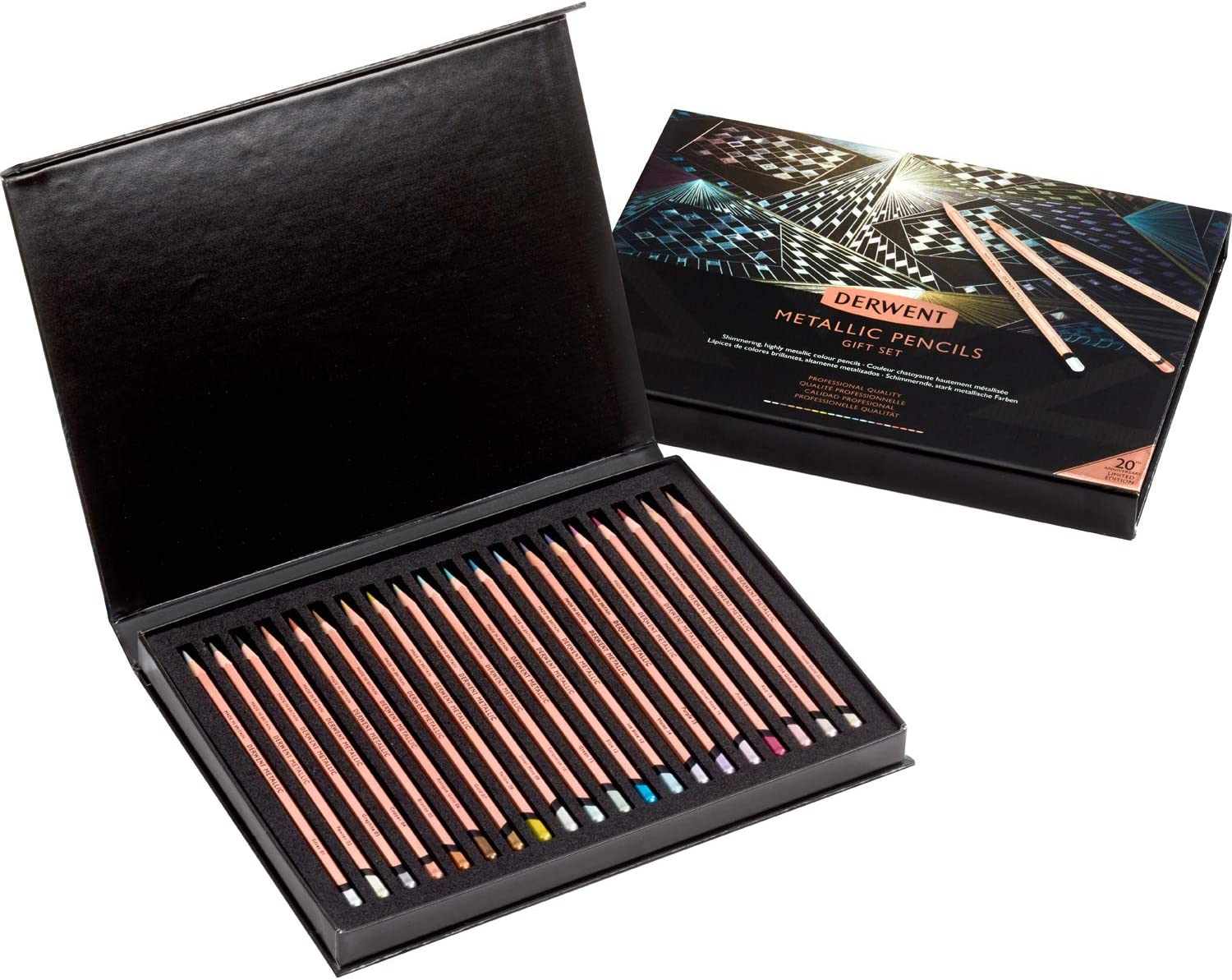 Derwent Metallic Pencil 20th Anniversary Set of 20