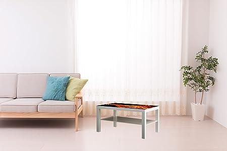 Vinilo para Mesa Ikea Lack Personalizada Fuego | Medidas 1,18 m x ...