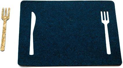 Elena Kihlman Colecci/ón Korkki Juego de 2 Manteles Individuales Parte Posterior con Revestimiento de Corcho 38 X 29 X 0,5 cm 4 Unidades Color Azul