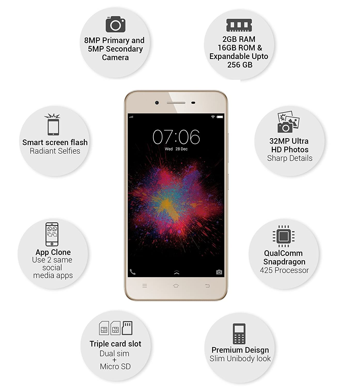 Vivo Y53 (Crown Gold)