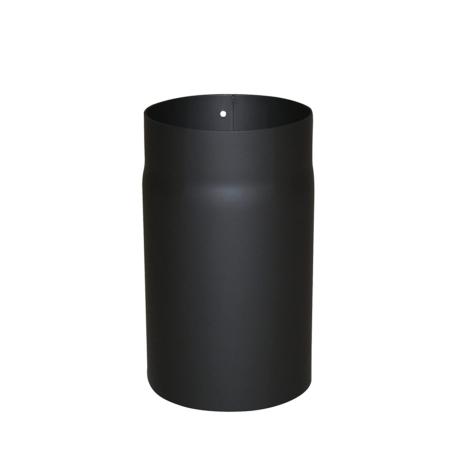 Kamino - Flam Ø 150 mm Steel Stove Pipe, Heat Resistant Senotherm Coating Flue Pipe for Stoves, approx. 250 mm Straight Length Chimney Pipe, Single Wall Pipe EN 1856-2 Standard, Black 331800